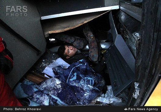 تصاویر دلخراش سقوط مرگبار اتوبوس در جاده هراز