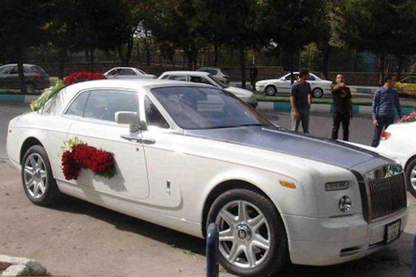 رولزرویس ماشین عروس ایرانی ها!+تصویر