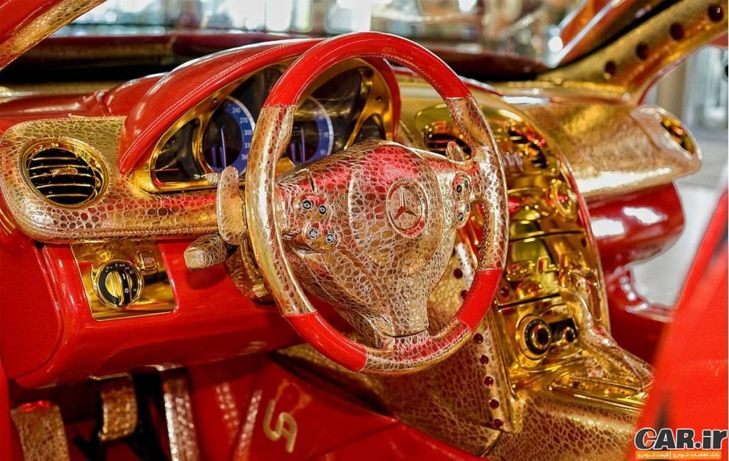 مرسدس بنر ساخته شده از طلا و یاقوت - Üli Anlicker
