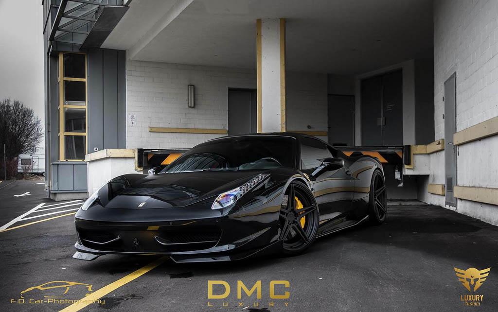 فراری 458 ایتالیا در لباس سیاه DMC
